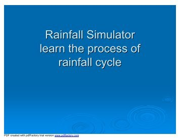 Rainfall Simulator learn the process of rainfall cycle