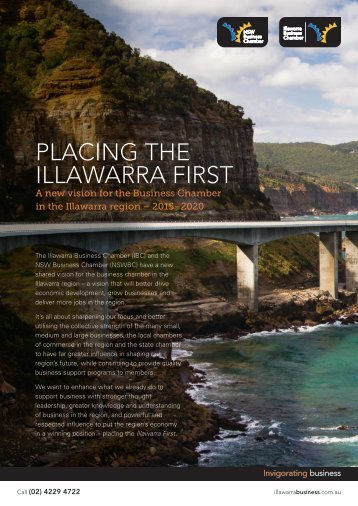 PLACING THE ILLAWARRA FIRST