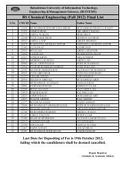 BS Chemical Engineering (Fall 2012) Final List