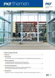 Effizienzsteigerung im Hochschulmanagement - PKF Fasselt Schlage