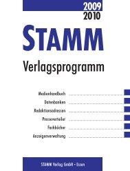 2009 2010 STAMM - STAMM Verlag GmbH