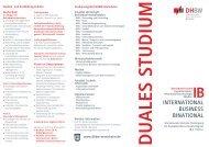 duales studium - International Business - DHBW Mannheim