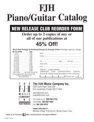 FJH Piano/Guitar Catalog