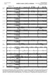 When A Man Loves A Woman Score Print.mus - Matrix Music