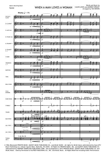 When A Man Loves A Woman Score Print.mus - Matrix Music