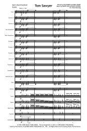 Tom Sawyer Score Print.mus - Matrix Music