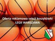 Oferta reklamowa sekcji koszykówki LEGII WARSZAWA