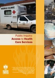 Public Inquiry  Access to Health Care Services