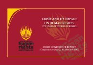 CRIME AND ITS IMPACT ON HUMAN RIGHTS