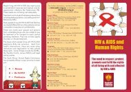 HIV & AIDS and Human Rights