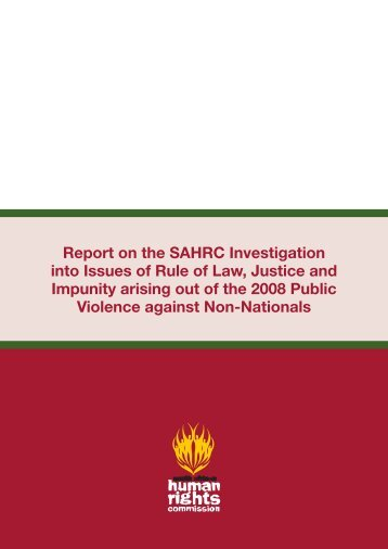 Chapter 1 - South African Human Rights Commission