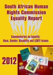 Equality Report Final October 2012 - South African Human Rights ...