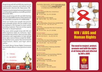 HIV / AIDS and Human Rights