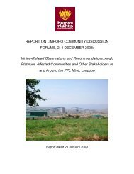 Report on Site Visit to Makopane - South African Human Rights ...