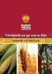 Tshwanelo ya go nna le Dijo