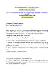 BUS 508 Assignment 2  Competitive Strategies