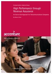 High Performance through Revenue Assurance