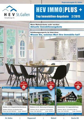 HEV ImmoPlus 02/2015, Regionalausgabe St. Gallen