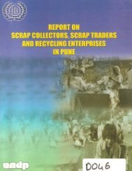 STUDY OF SCRAP COLLECTORS SCRAP TRADERS AND RECYCLING ENTERPRISES IN PUNE