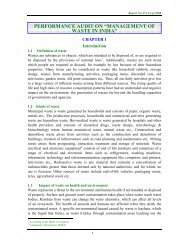 """PERFORMANCE AUDIT ON """"MANAGEMENT OF WASTE IN INDIA"""""""