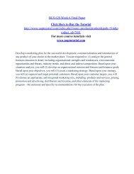 BUS 620 Week 6 Final Paper