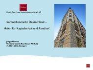 Immobilienmarkt Deutschland – Hafen für Kapitalerhalt und Rendite?