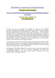 BUS 630 Week 2 Assignment Case 3A (Auerbach Enterprises)