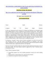 BUS 630 WEEK 3 ASSIGNMENT CASE 5A