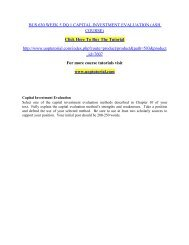 BUS 630 WEEK 5 DQ 1 CAPITAL INVESTMENT EVALUATION