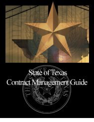 Contracts Management Guide - Texas Comptroller of Public Accounts