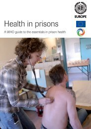 Health in Prisons - World Health Organization Regional Office for ...