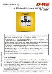 Rücksendeeinrichtung nach DIN EN 81-73 - D+H Mechatronic
