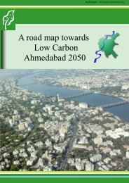 A road map towards Low Carbon Ahmedabad 2050