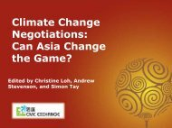 Climate Change Negotiations Can Asia Change the Game?