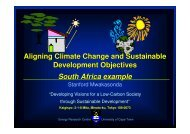Development Objectives South Africa example