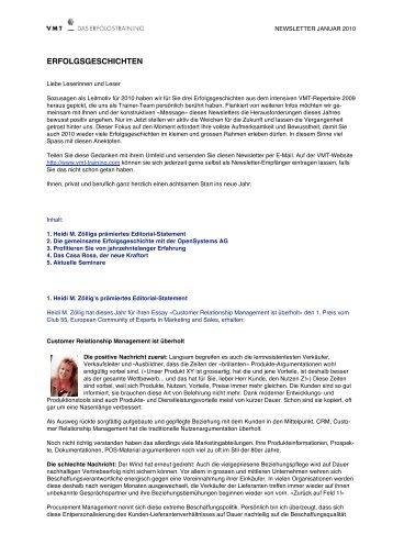 ERFOLGSGESCHICHTEN - Heidi M. Zöllig, Bruno L. Catellani