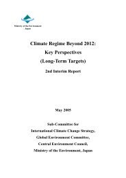 Climate Regime Beyond 2012 Key Perspectives (Long-Term Targets)