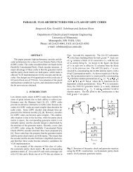 PARALLEL VLSI ARCHITECTURES FOR A CLASS OF LDPC ...