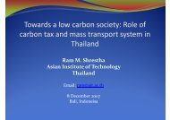 Role of carbon tax and mass transport system in Thailand