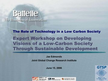 The Role of Technology in a Low Carbon Society