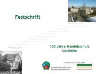 Festschrift 100 Jahre Handelsschule Lustenau