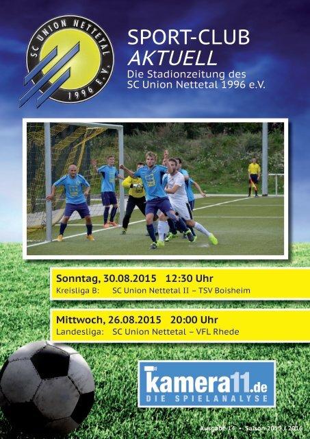 Sport Club Aktuell - Ausgabe 14 - 26.08.2015/30.08.2015