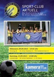 Sport Club Aktuell - Ausgabe 15 - 09.09.2015/13.09.2015