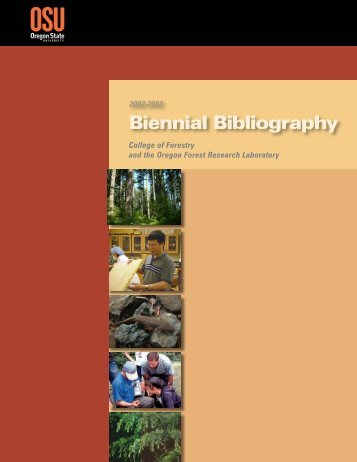 Biennial Bibliography - College of Forestry - Oregon State University