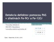 Detekcia defektov pomocou PAS v zliatinách Fe-9Cr a Fe-12Cr