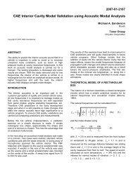 CAE Interior Cavity Model Validation using Acoustic Modal Analysis