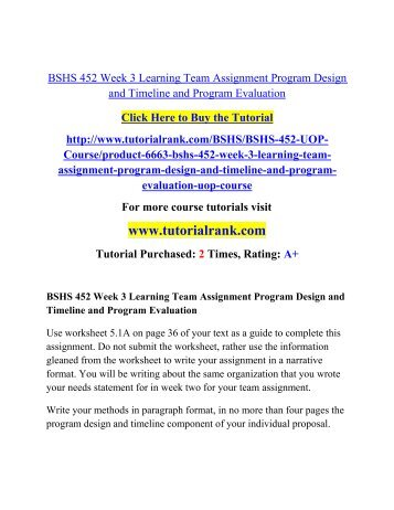bshs 452 program design and proposal writing Bshs - human services bshs 305 historical development of human services $ 3500 add to cart bshs 305 week 1 bshs 305 week 3 individual assignment, client paper.