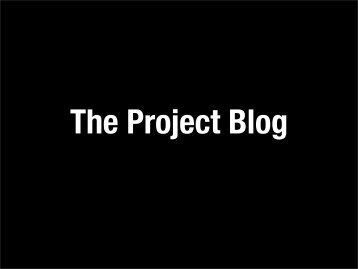 The Project Blog
