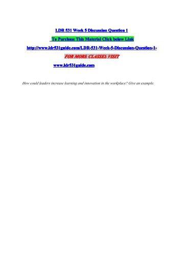 UPDATED LDR 531 WEEK 5 Strategic Change: Case Study help