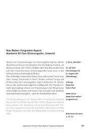 Max Weber-Programm Bayern - Schweizerische Studienstiftung